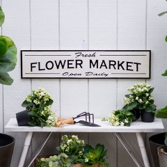 Enameled Metal Flower Market Sign