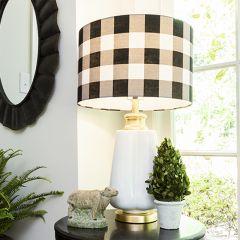 Ceramic Table Lamp With Buffalo Check Shade