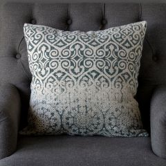 Classic Print Linen Throw Pillow