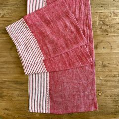 Linen Table Runner With Pinstripes