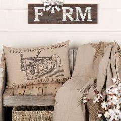 Farm Graphic Throw Pillow