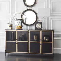 4 Door Modern Farmhouse Display Cabinet | SHIPS FREE