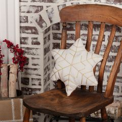 2 Sided Embroidered Snowflake Accent Pillow