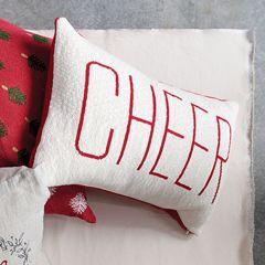 2 Sided Holiday Cheer Lumbar Pillow