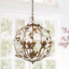 Gold Leaf Cage Chandelier