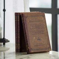 Antiqued Book Box Collection Set of 3