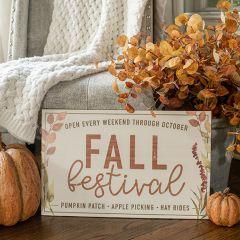 Fall Festival Farmhouse Sign