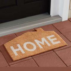 House Shaped Coir Farmhouse Doormat