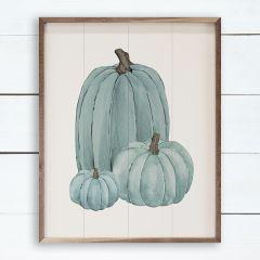 Pumpkin Trio Blue Wall Art