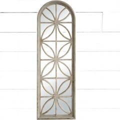 Large Wood Window Pane Mirror