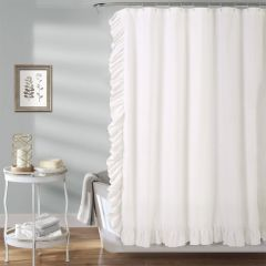 Ruffle Edge Shower Curtain