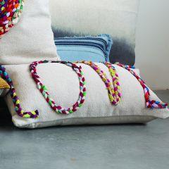 LOVE Applique Lumbar Pillow