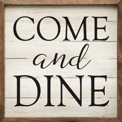 Come and Dine Framed Sign