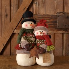 Snowman Couple With Star Accent