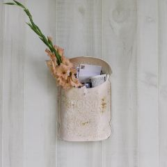 Blush Embossed Tin Vintage Inspired Mail Box