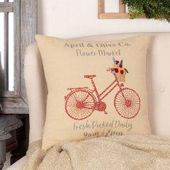 Farmhouse Flower Market Throw Pillow