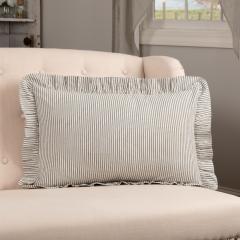 Ruffled Ticking Stripe Accent Pillow