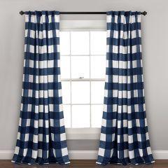 Kelly Check Window Curtain Panel Set