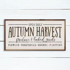 Autumn Harvest Produce And Baked Goods Whitewash Sign
