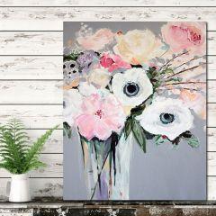 Farmhouse Flower Bouquet Canvas Wall Art