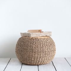 Seagrass and Water Hyacinth Pouf