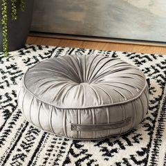 Round Velvet Floor Pillow