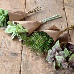 Artificial Herb Bundle Set of 4