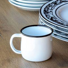 Classic Enamelware Mini Mug Set of 2