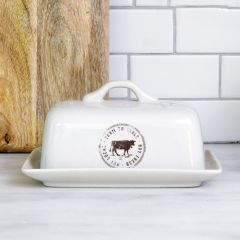 Farm to Table Stoneware Butter Dish
