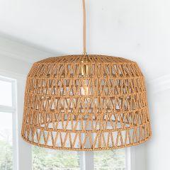 Woven Basket Pendant Light