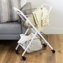 Tiered Metal Basket Cart