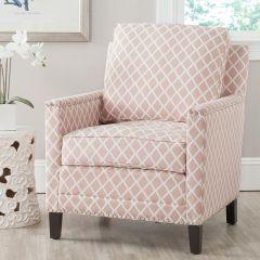 Diamond Print Blush Club Chair