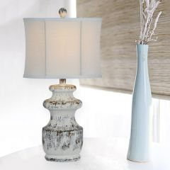 Weathered Upscale Table Lamp