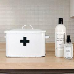 First Aid Enamel Box