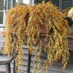 Decorative Hanging Avena Bud Bush Set of 2