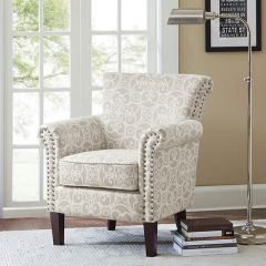 Patterned French Country Club Chair