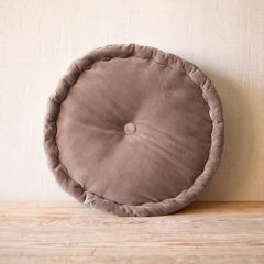 Round Velvet Pillow Floor Cushion