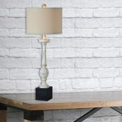 Farmhouse Style Distressed Table Lamp