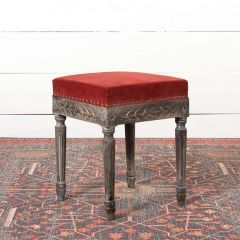 Old World Upholstered Accent Bench