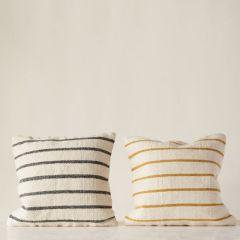 Woven Wool Blend Striped Pillows Set of 2