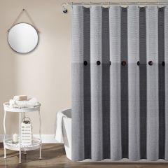Button Accent Shower Curtain