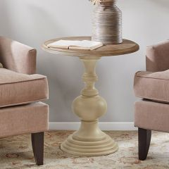 Chic Farmhouse Round Accent Table