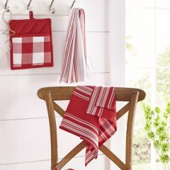 Country Check And Stripes Napkins Set of 3