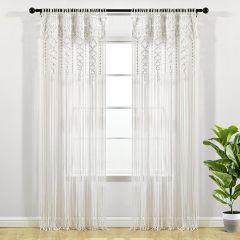 Boho Chic Textured Curtain Panel Set of 2