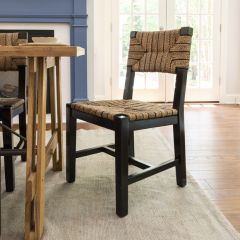 Woven Rope Mango Wood Chair Set of 2