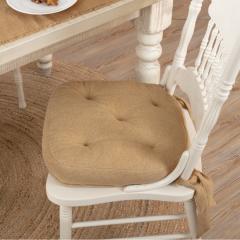 Natural Burlap Chair Pad