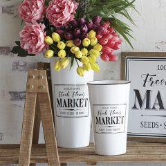 Flower Market Bucket Set of 2