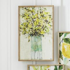 Flowers In Vase Wood Framed Print
