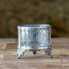 Footed Cut Glass Votive Holder