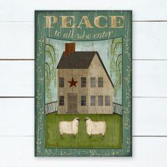House With Sheep Peace Wall Art